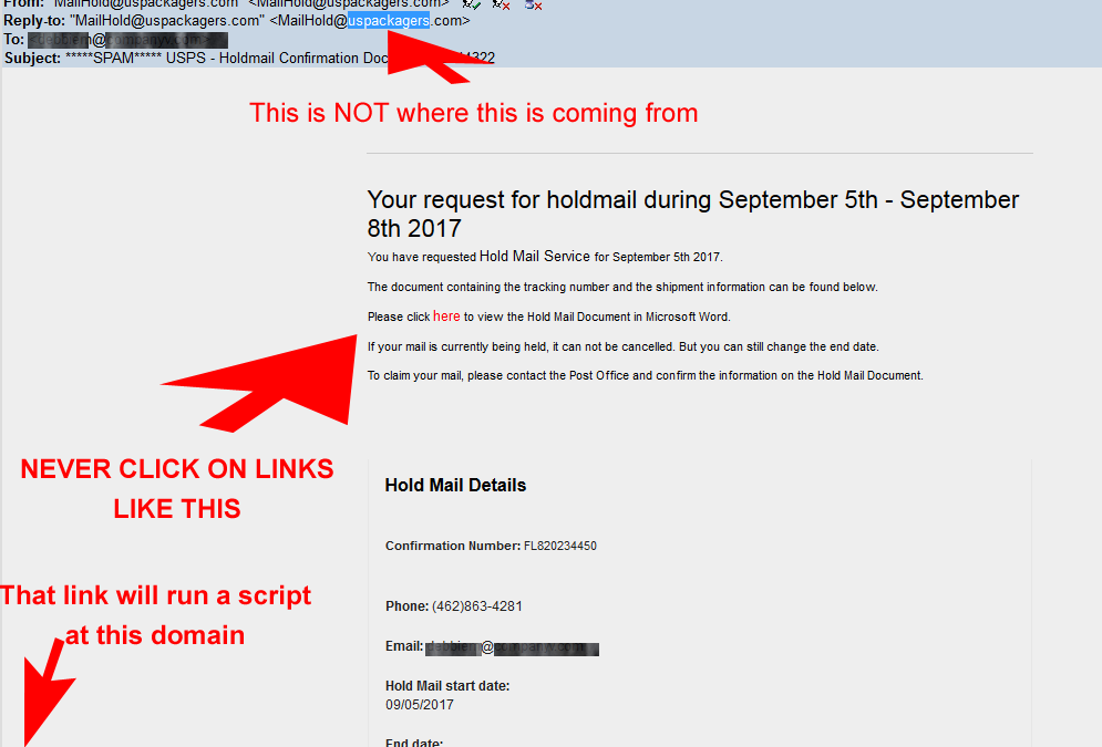 Holdmail Confirmation Doc Do NOT Click on embedded links !