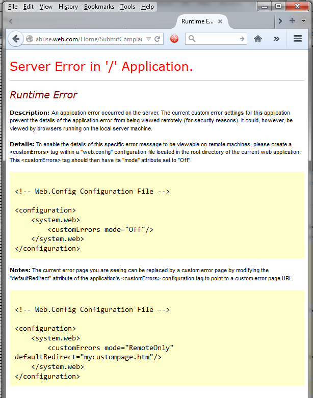 web-dot-com_runtime-error
